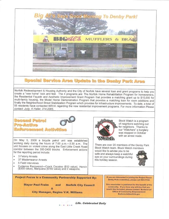 Project Focus Denby Park November Newsletter pg.2