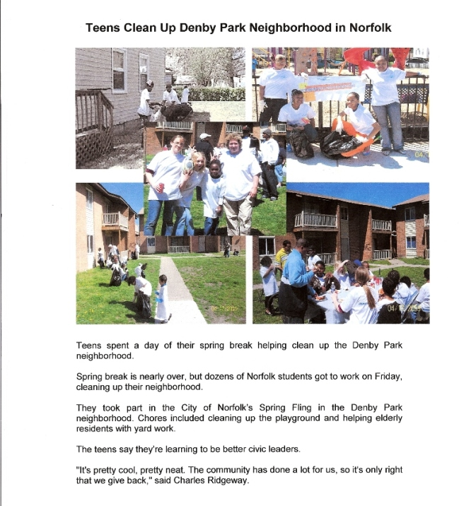 Denby Park Youth Civic League Clean-up Day