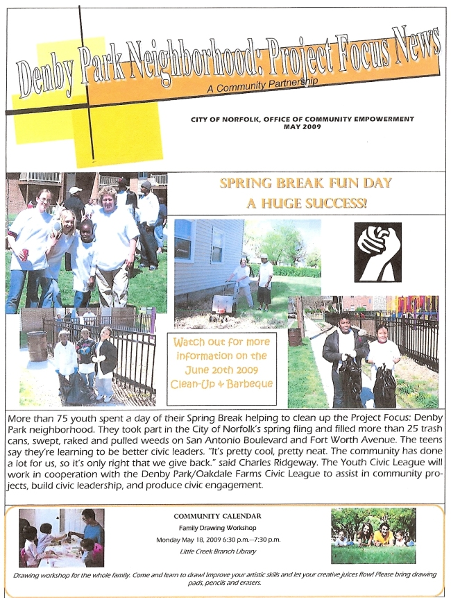Denby Park Project Focus Newsletter