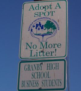 Adopt A Spot - Granby High School Business Students