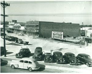 Construction of Midtown Shopping Center at Wards Corner, February 17, 1947