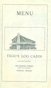 Tegg's Menu, outside