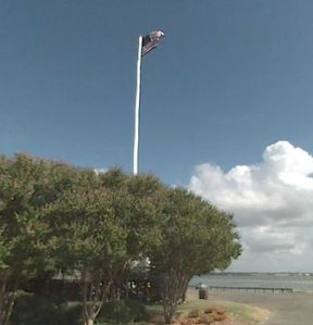 A flagpole cell tower in Willoughby, similar to what is being proposed at the Masonic Temple