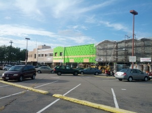 Midtown Shopping Center, new facade progress pictures, July 11, 2012, Norfolk, Virginia, 1 of 4