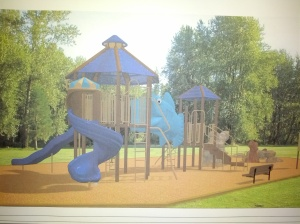 New playground at the Fitness and Wellness Center, picture 1 of 4