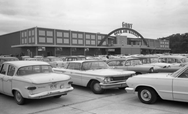 Wards Corner Giant Open Air Market opened in 1963.  Photo provided by the Virginian-Pilot.