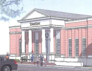 TowneBank Wards Corner design.  Construction is expected to begin in August.