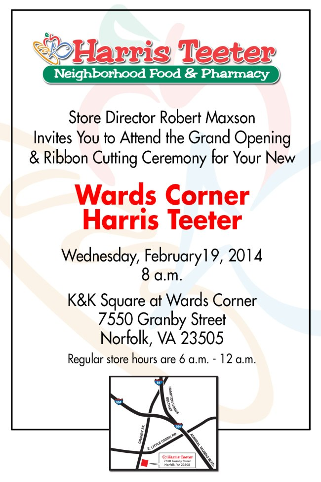 Harris Teeter Ribbon Cutting Invitation