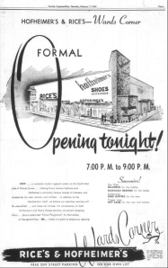 A large advertisement that ran in The Virginian-Pilot the day of the opening.