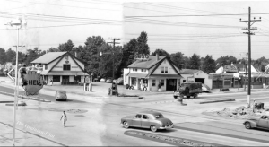 A rare shot of the location where the building would be constructed – photo taken in 1950. VP file photo.