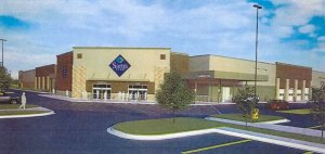 Proposed facade for new Norfolk Sam's Club