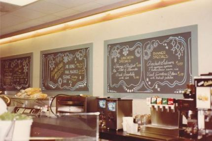 Teresa Boyle did a fantastic job creating the chalk menu boards