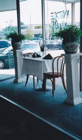 The famous prop table in the front window of Uncle Louie's. At times, we had to get that table so we would have seating for two more guests. Uncle Louie's had 450 seats, The business that Uncle Louie's would do on some days was absolutely amazing.