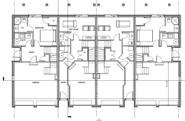 First floor plan of the proposed Westport Commons Townhomes.