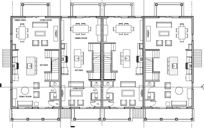 Second floor plan of the proposed Westport Commons Townhomes.