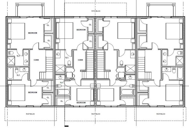 Third floor plan of the proposed Westport Commons Townhomes.