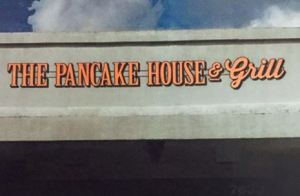 "Rendering of the new ""The Pancake House & Grill"" sign."